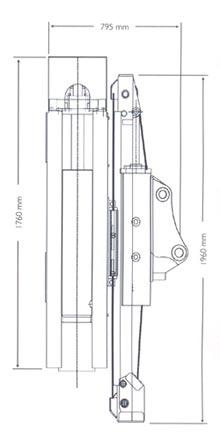 Габаритные размеры копровой установки для экскаваторов погрузчиков