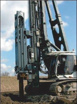 BSP Сваебойная установка, оборудованная CX85
